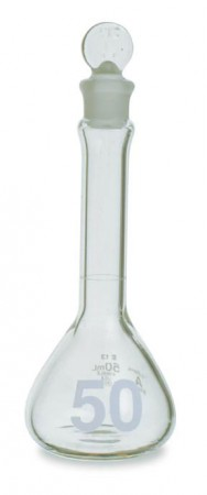 Kimble™ KIMAX™ Heavy-Duty Clear Glass Class A Volumetric Flasks with Glass Stoppers, 1000mL