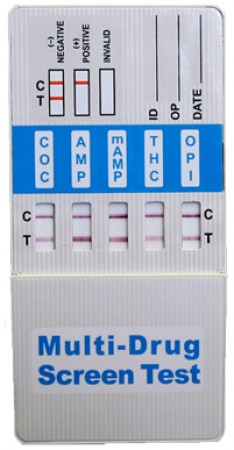 6 Panel Pipette Drug Screen for MAMP, COC, THC, AMP, OPI2000, BZO - Box of 25