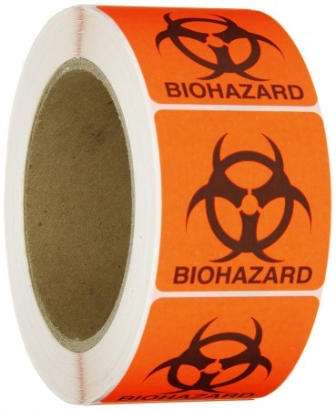 "Biohazard Label, 5x5"""