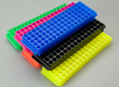 80-place tube rack, mixed standard colors