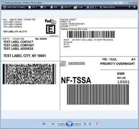 FedEx Overnight Priority Label - Pack of 50