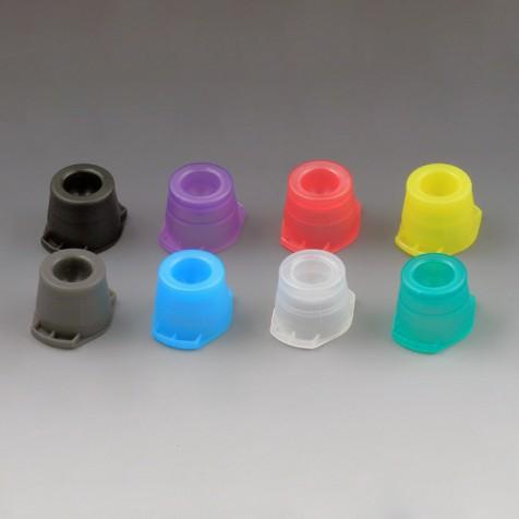 Tube Cap Round Plastic Black Polyethylene 13mm