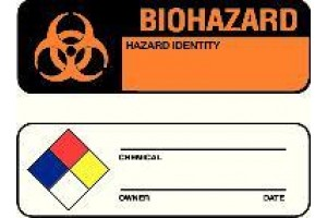 Write-On Hazard Warning Labels, National Marker,  Chemical ______