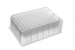 Strata® 96-Well Collection Plate 1 mL Round, 7 mm, Polypropylene