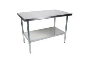 "Stainless Steel Table 34.5"" x 48"" x 30"" (HxWxD)"