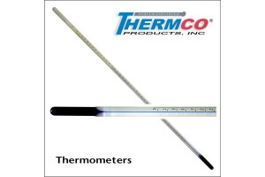 Thermometer - ASTM Approved Non-Mercury Thermometer, Thermco, 0/180F X 1.OF Farenheitm, Blue Spirit with White Background, (1/each).