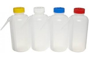 Bottle - Wash Bottle, Squeeze with Wide Mouth, Screwcap,  500mL, Clear/Neutral,