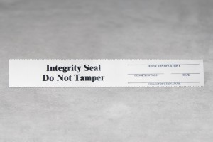Integrity Tamper Evident Seals Black on White