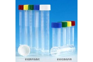 Transport Tube with Separate White Screw Cap 5 mL 16 x 56 mm Conical Bottom, Self Standing Case(1000)