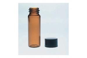 Fisherbrand™ Class B Amber Glass Threaded Vials, Black Screw-Top Cap, 1.8mL - Pack of 144