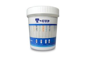 T-Cup 6 Panel Drug Screen for (AMP, BZO, COC, mAMP, OPI, THC) + 3 Adulterants (CR, S.G., pH) (CLIA Waived); Box of 25