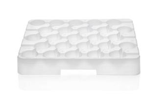 VWR® Reusable Racks for 15 mL Centrifuge Tubes, White; Case of 5
