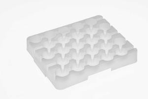 VWR® Reusable Racks for 50 mL Centrifuge Tubes, White; Case of 5