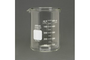 PYREX Griffin Beakers, 600mL - Pack of 6
