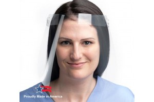 The LW Scientific Face Shield is deigned to protect the eyes, nose, and mouth from aerosols, sprays, and splatters. LW Scientific's Face Shield's full-length provides complete coverage. The wrap-around design provides over-the-top, side and front face pro