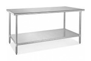"""Stainless Steel Table 34.5"""" x 72"""" x 30"""" (HxWxD)"""