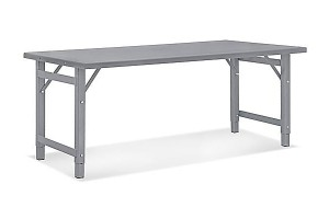 """Steel Assembly Table without Bottom Shelf - 72 x 30"""""""