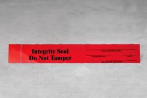 Tamper Evident Seals - Black/Red Large