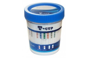 T-Cup 6 Panel Drug Screen for (BZO, COC, mAMP, OPI, OXY, THC) (CLIA Waived); Box of 25