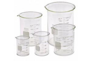 Glass Beaker, 1000 mL, Pack of 6