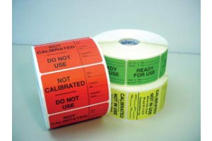 "Fisherbrand™ ACA Labels, yellow, ""Calibrate-Not In Use"""