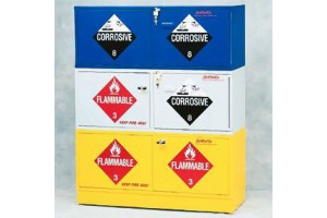 SciMatCo™ Stak-a-Cab™ Stackable Cabinet, 8 x 1 gal. flammable, 10 x 2.5L Corrosive