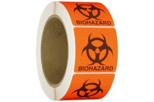 Biohazard Label, 5x5""