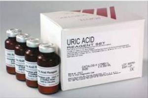 Uric Acid. Uricase/Trinder, endpoint, 9x65 mL, 9x15 mL