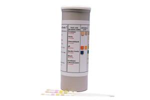 7-Panel Adulterant Screen. Detects abnormalities in Creatinine, Specific Gravity, pH, Nitrite, Glutaraldehyde, Bleach, Pyridinium Chlorochromate.