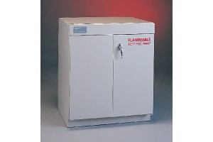 Solvent Storage Cabinet with Manual-Closing Doors (4'W x 35.5 H) 260 lbs.
