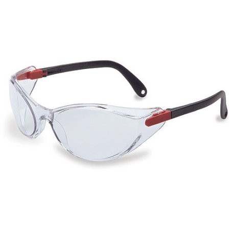 Uvex Bandido Safety Eyewear, Sperian Protection. Red/Black Frame,