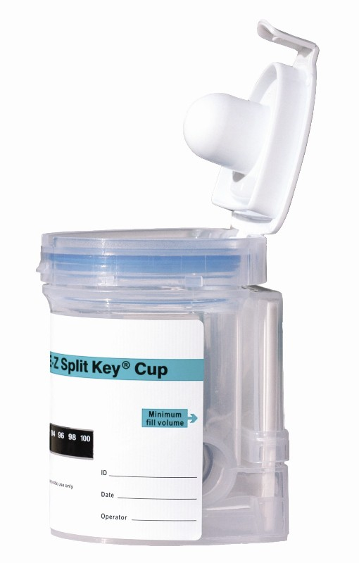 Integrated E-Z Cup II with 5 Panel Drug Screen with Adulterant Screen for AMP, COC, THC, OPI2000, PCP, (CLIA Waived) Box of 25