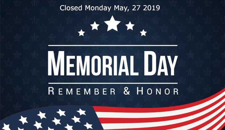 DTPM Banner Memorial Day Closure